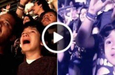 Pai leva filho autista pra ouvir sua música preferida em show do Coldplay