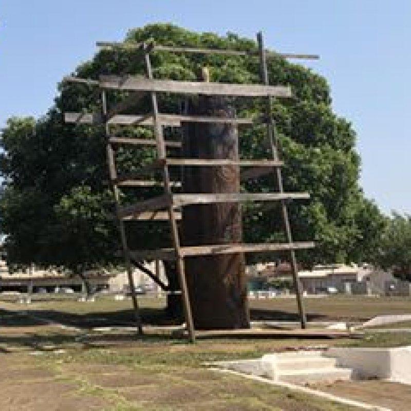 Por falta de cobertura, monumento recém-restaurado pode ser danificado pela chuva