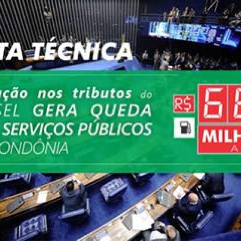 Rondônia: AROM emite nota técnica sobre impactos da redução do tributos do diesel