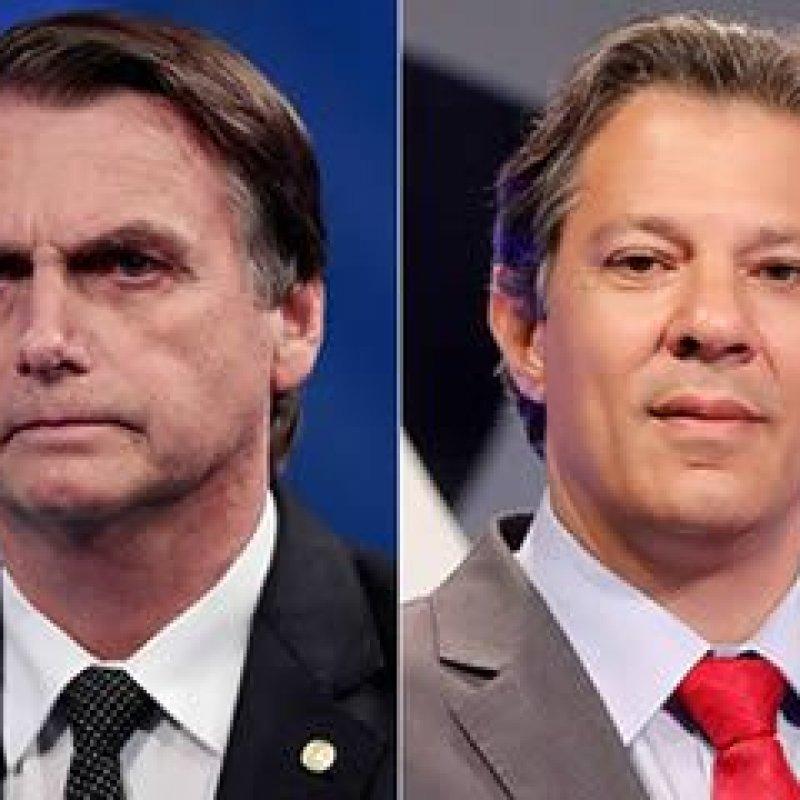 Datafolha: Bolsonaro tem 39% das intenções de voto; Haddad tem 25%