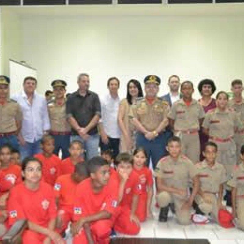Marcelino participa da formatura da 6ª turma do projeto Bombeiro Mirim de Ouro Preto