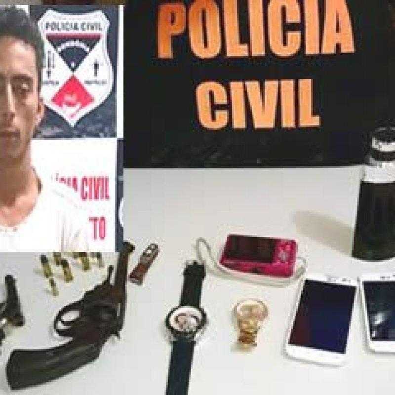 PC prende assaltante e recupera bens subtraídos em menos de 15 horas
