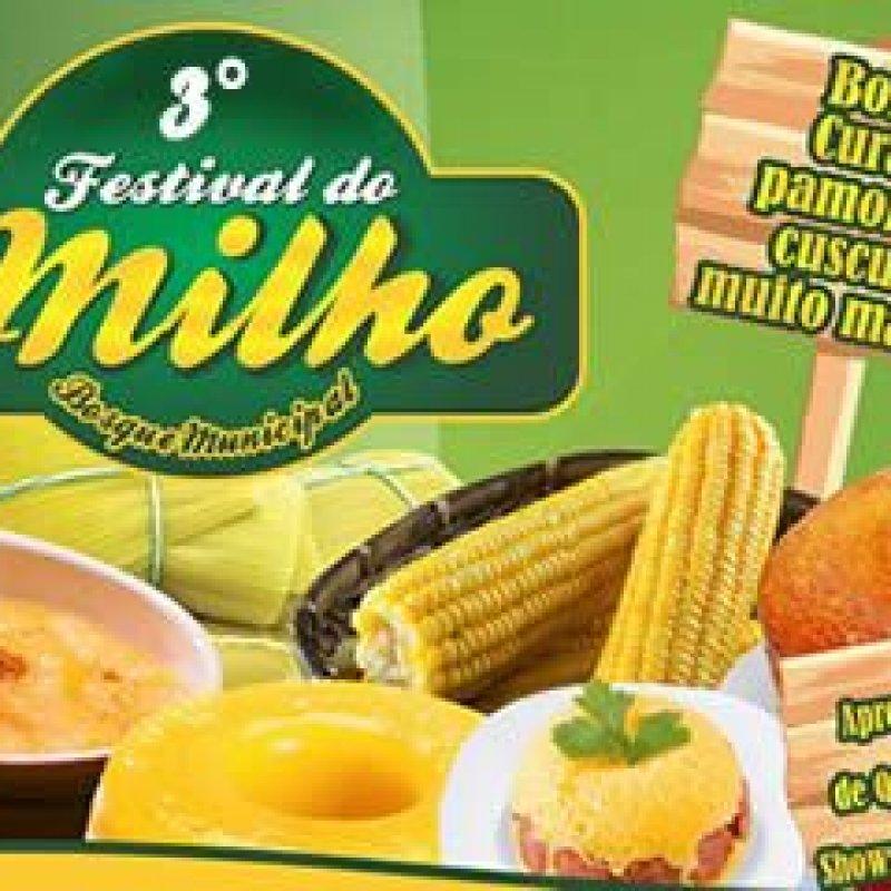 Nos dias 15 e 16 de junho acontece em Ouro Preto do Oeste o 3° Festival do Milho