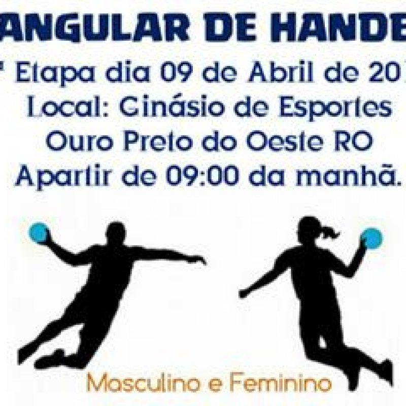 Ouro Preto sedia a 1ª etapa do Triangular de Handebol neste domingo (9)