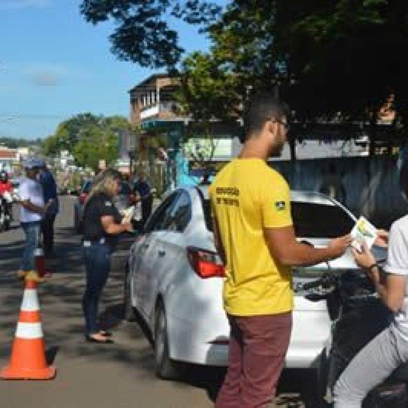 Carreata abre o mês de conscientização no trânsito em Ouro Preto do Oeste