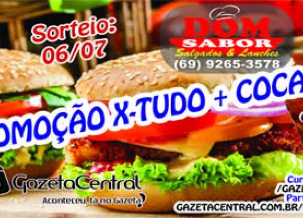 X-tudo + Coca 1L da Dom Sabor