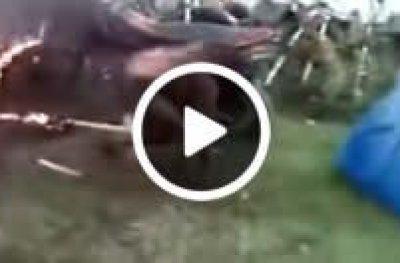 Populares invadem delegacia e jogam no fogo suspeita de matar criança