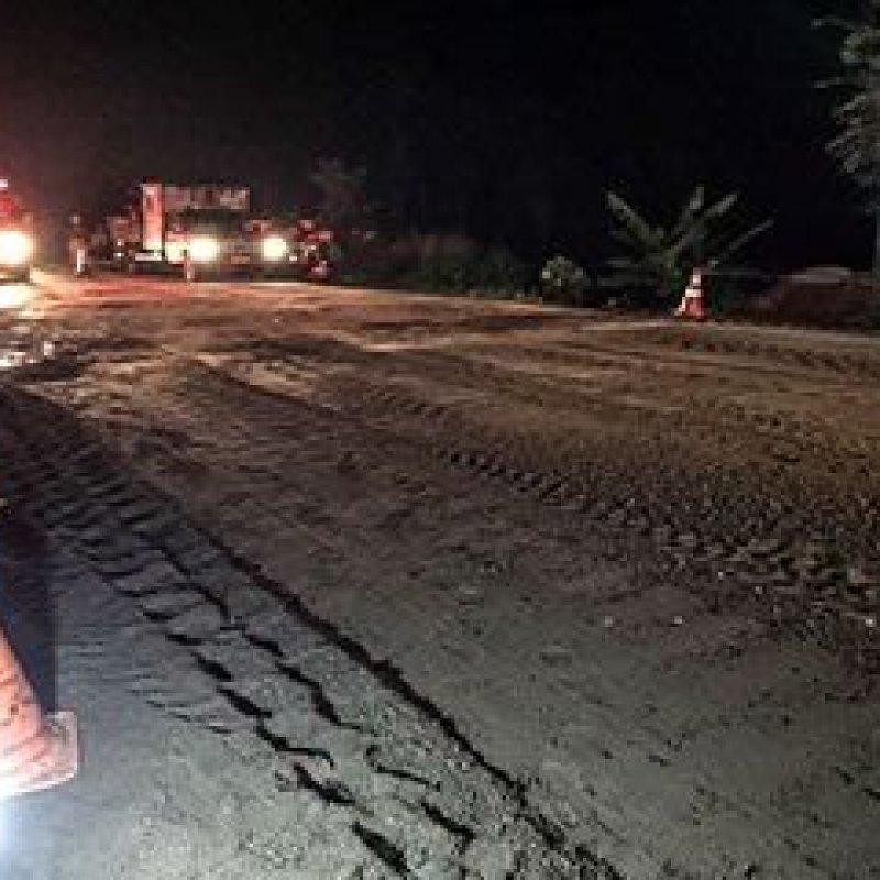Após a realização de reparos, trecho interditado em Cacaulândia é liberado pela PRF