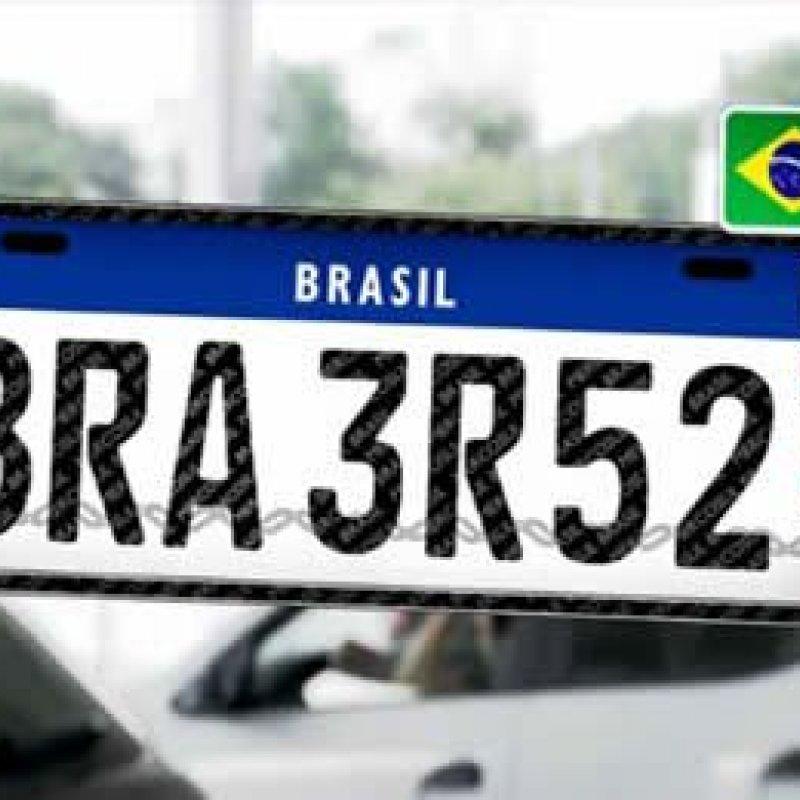 Placas de veículos Brasileiros irão mudar e devem começar a usar padrão do Mercosul daqui a 6 meses