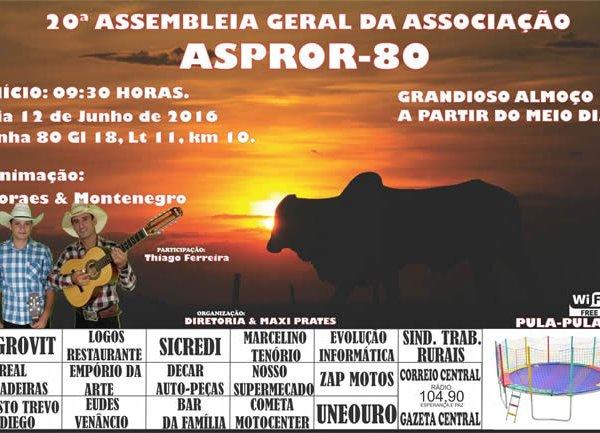 20º Assembleia Geral da Associação ASPROR-80