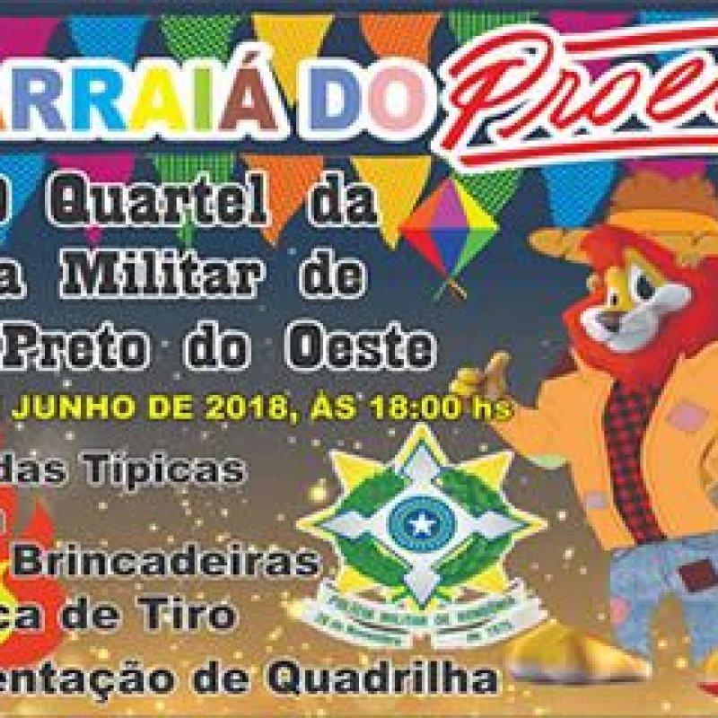 Ouro Preto: 1° Arraiá do PROERD acontece neste sábado (9) no quartel da PM