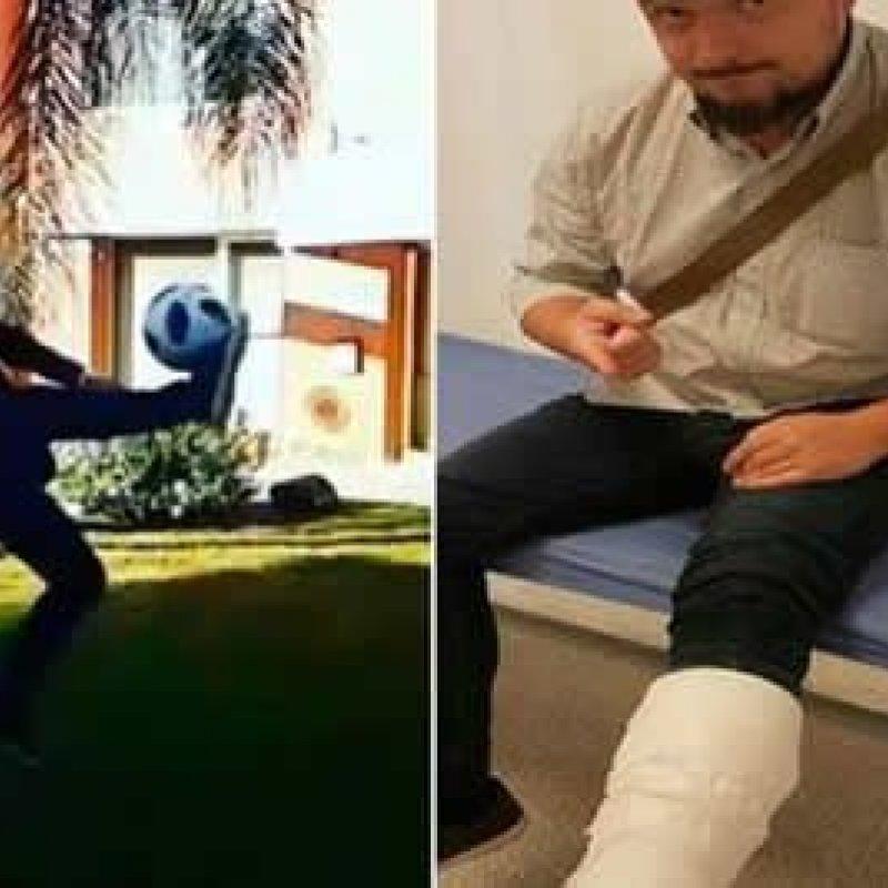 Jornalista tenta repetir bicicleta de Cristiano Ronaldo e fratura perna