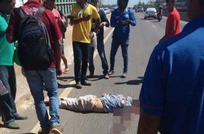 Homem morre atropelado na Br-364 próximo a ponte do Rio Machado, em Ji-Paraná