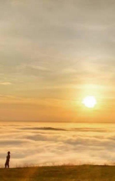 Nascer do sol no Morro Chico Mendes em Ouro Preto do Oeste