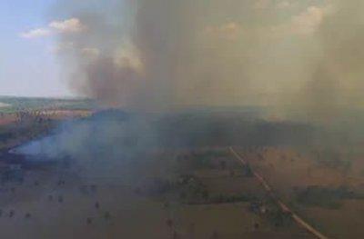 Nova União: incêndio de grande proporção atinge reserva ambiental e chega ao 3º dia