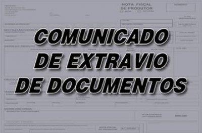 Comunicado de extravio de documentos