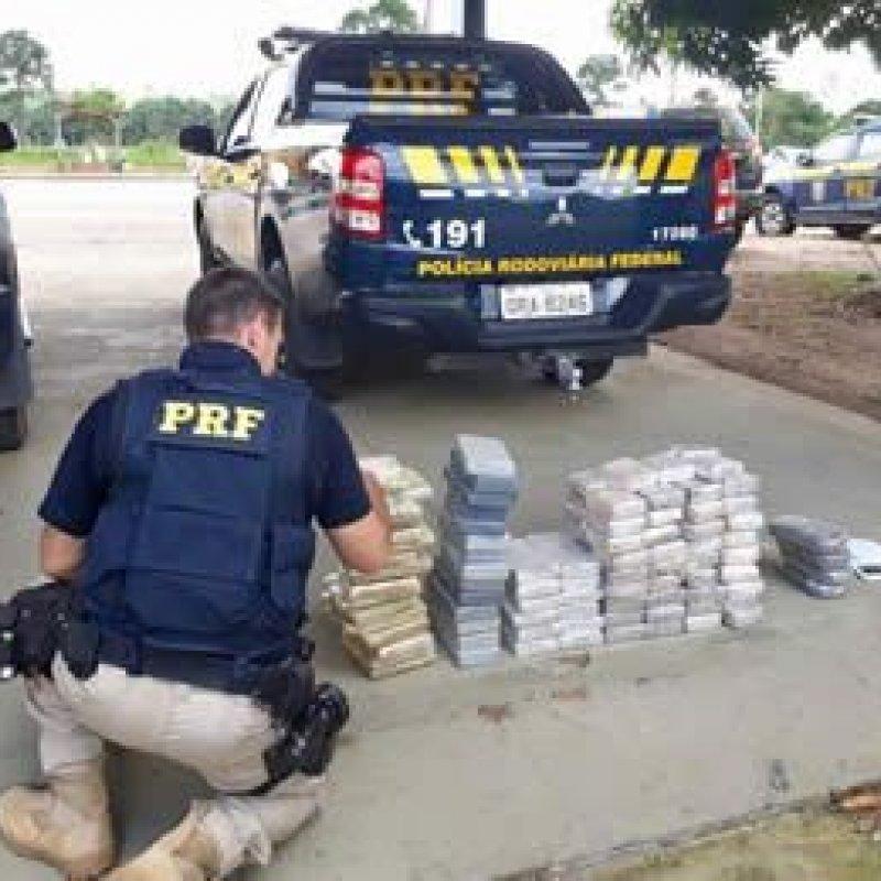 Dois são presos com quase 90 quilos de cocaína na BR-364, em Jaci-Paraná