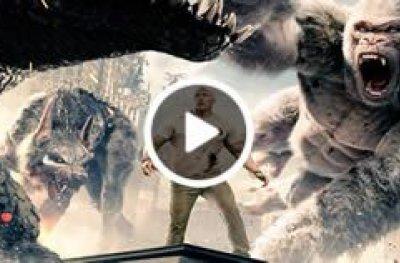 Muita ação no trailer de 'Rampage: Destruição Total'