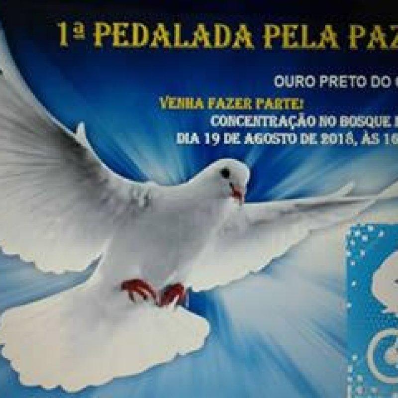 Ouro Preto: 1ª Pedalada pela Paz acontece dia 19 de agosto (domingo)
