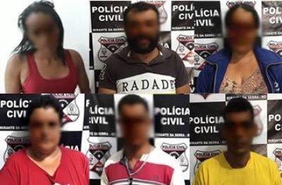 PC prende seis pessoas por suspeita de tráfico e associação para o tráfico de drogas