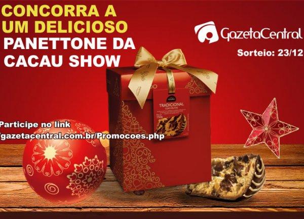 Que tal ganhar um delicioso Panettone Trufado da Cacau Show de 750g?