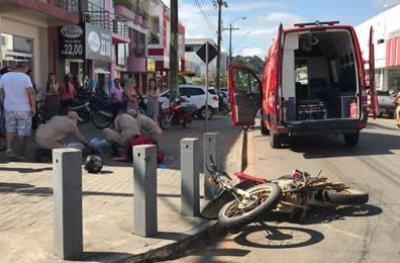 Ouro Preto: menor pilotando moto sofre fratura exposta na perna ao colidir em veículo