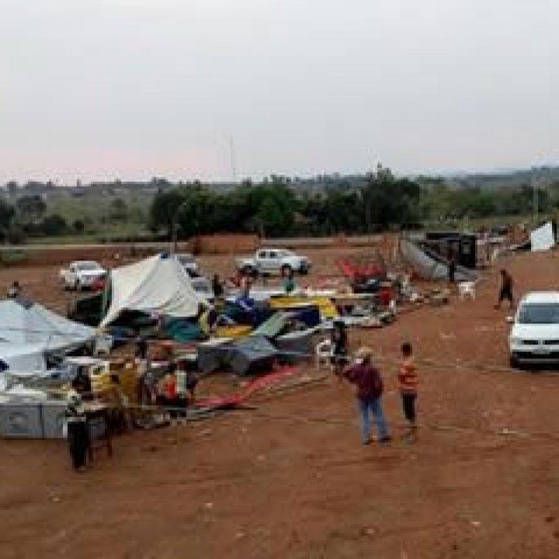 Temporal causa destruição no Parque de Exposições de Tarilândia