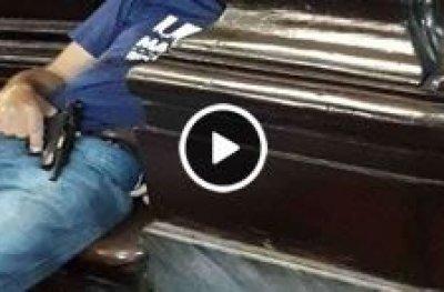 Câmera interna mostra ação de atirador na catedral de Campinas