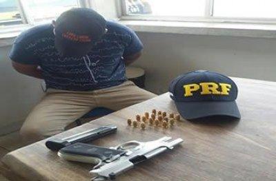 Rondônia: homicida foragido é preso pela PRF com arma de fogo