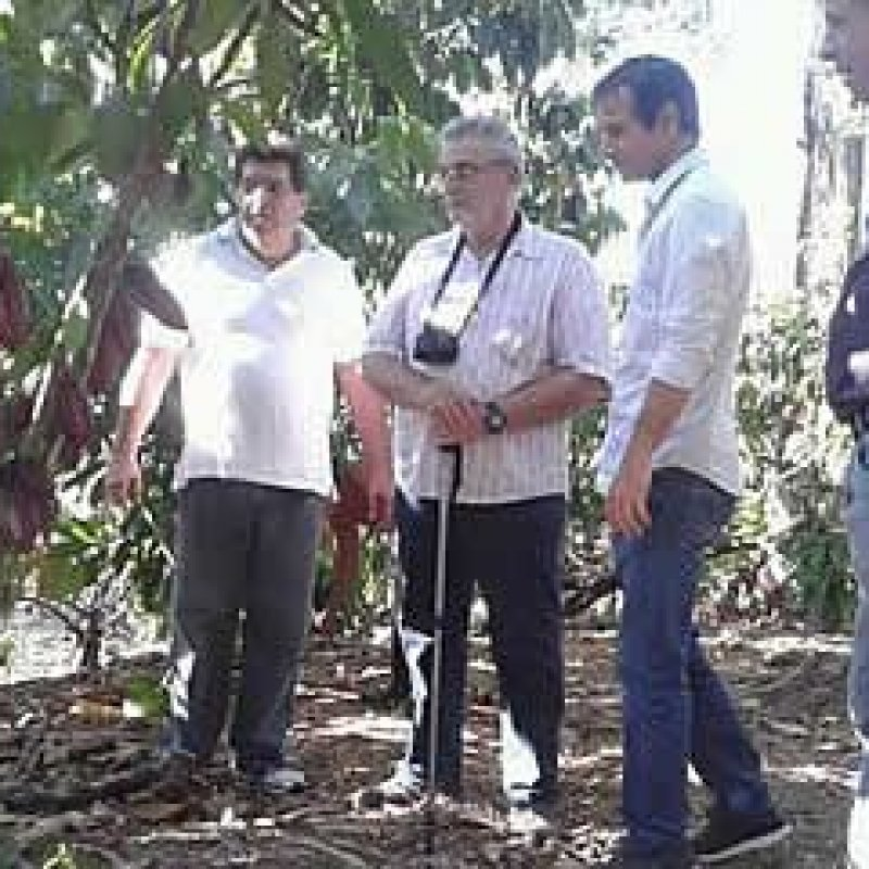 Deputado Marcelino Tenório visita lavoura de cacau na Bahia
