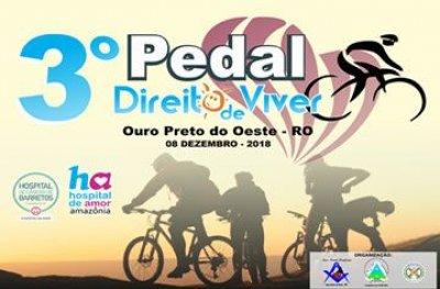3° Pedal Direito de Viver acontece dia 08 de dezembro em Ouro Preto do Oeste