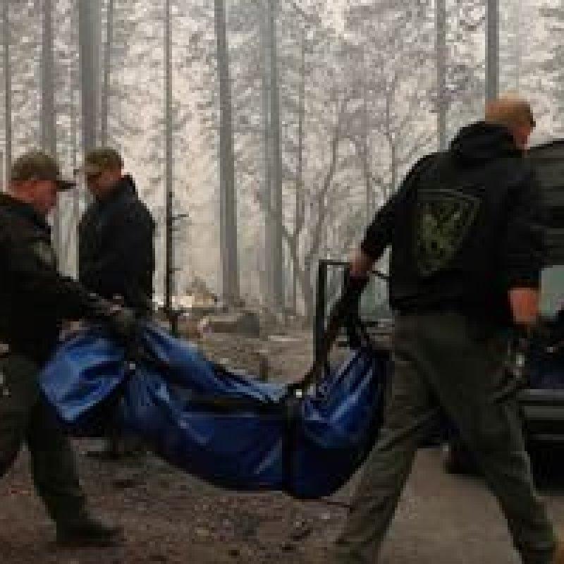 Sobre para 50 número de mortos nos incêndios na Califórnia