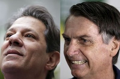 Bolsonaro tem 59% e Haddad, 41%, diz pesquisa BTG Pactual