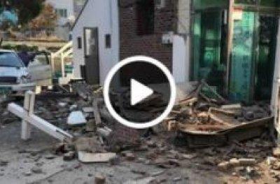 Terremoto de 5,4 graus na Coreia do Sul provoca destruição
