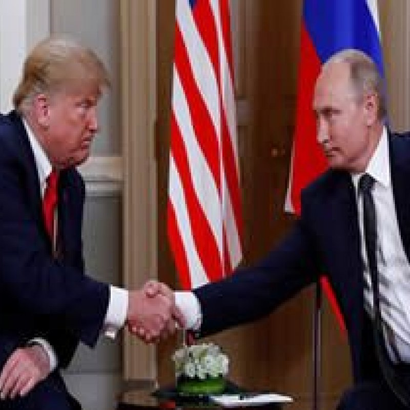 Trump e Putin se encontram em Helsinque, na Finlândia