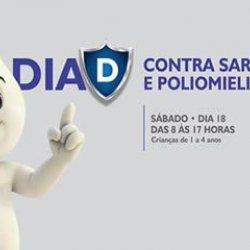 """Sábado é o """"Dia D"""" de vacinação contra sarampo e poliomielite para as crianças"""