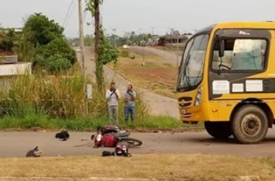 Nova Brasilândia: jovem morre e irmã fica em estado grave em colisão com ônibus escolar