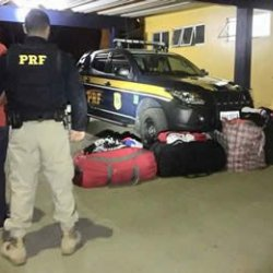 PRF prende peruano com camisas contrabandeadas, em Porto Velho