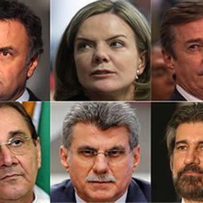 Saiba de que são acusados os seis senadores réus da Lava Jato