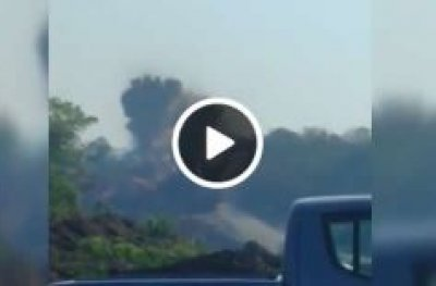 Explosão na BR-364, entre as cidades de Ouro Preto do Oeste e Ji-Paraná