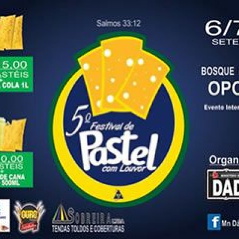 Ouro Preto: 5° Festival de Pastel com Louvor acontece nos dias 6, 7 e 8 de setembro