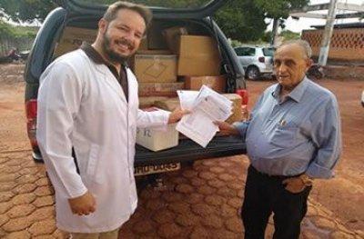 Dono do Irmãos Gonçalves doa medicamentos para Hospital de Rolim de Moura