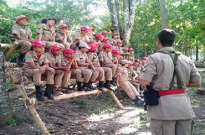 8ª turma dos Bombeiros Mirins de Ouro Preto encerra curso com treinamento de selva