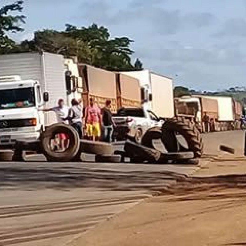 PRF registra oito pontos de bloqueio na BR-364 em Rondônia