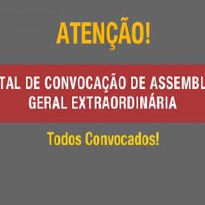 STPMOP: edital de convocação para Assembleia Geral Extraordinária