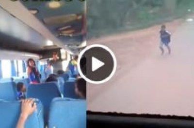 Monitora de ônibus escolar abandona criança 20KM antes da residência