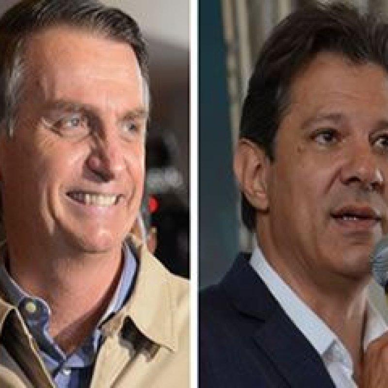 Ibope: Bolsonaro tem 57% dos votos válidos e Haddad, 43%