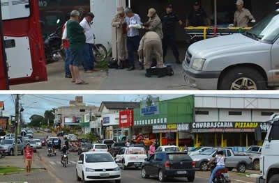 Ouro Preto: idoso sem habilitação provoca acidente entre duas motos e interrompe trânsito
