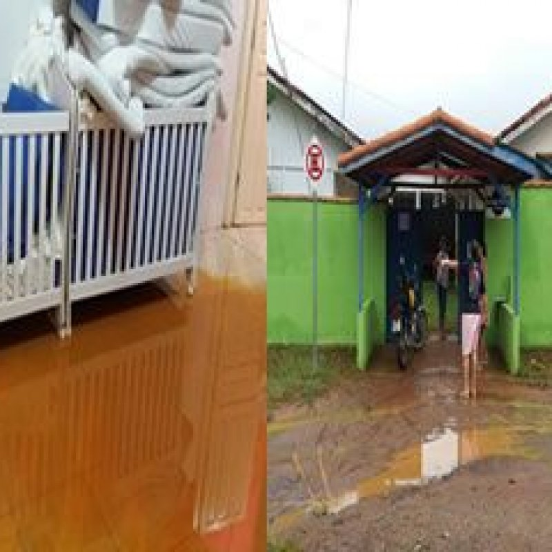 e5ef52bf7ab78 Enxurrada invade escola infantil em Ouro Preto do Oeste