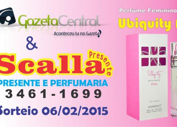 Sorteio de um maravilhoso perfume feminino Ubiquity Pink de 100ml
